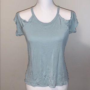 Express cold shoulder top